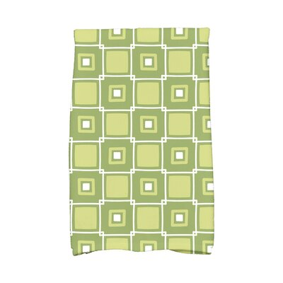 Rocio Square Pop Geometric Print Hand Towel Color: Green
