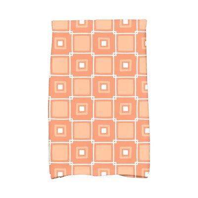 Rocio Square Pop Geometric Print Hand Towel Color: Coral