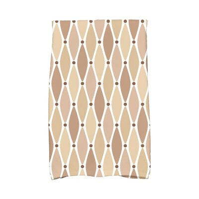 Wavy Geometric Print Cotton Hand Towel Color: Taupe