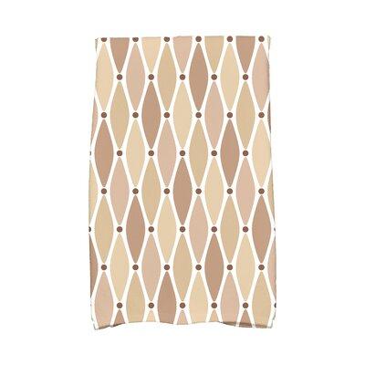 Rocio Wavy Geometric Print Hand Towel Color: Taupe
