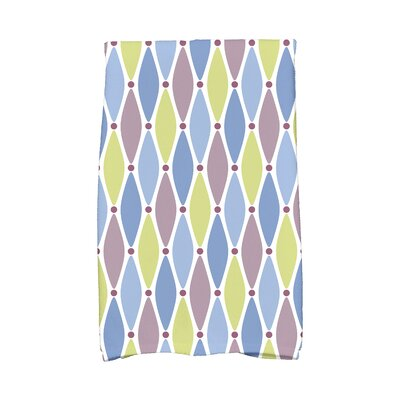Wavy Geometric Print Hand Towel Color: Blue