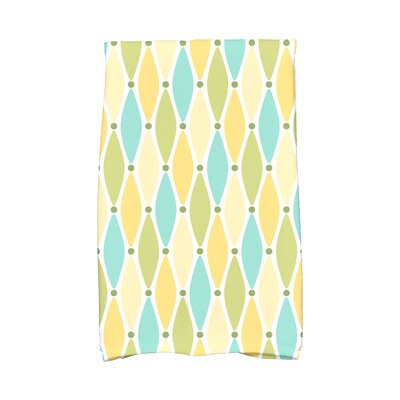 Rocio Wavy Splash Geometric Print Hand Towel Color: Yellow