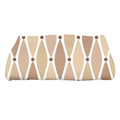 Wavy Geometric Print Bath Towel Color: Taupe