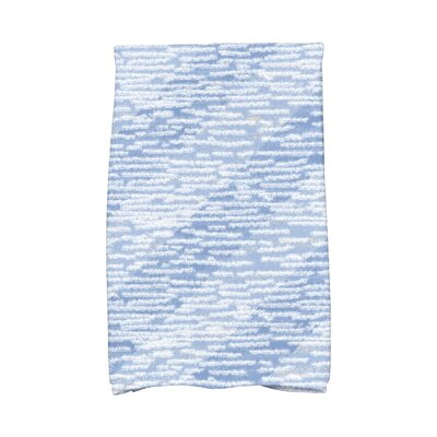 Rocio Marled Knit Stripe Geometric Print Hand Towel Color: Blue