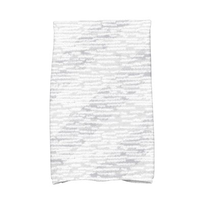 Marled Knit Stripe Geometric Print Hand Towel Color: Gray