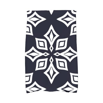 Star Geometric Print Hand Towel Color: Navy Blue