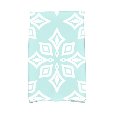 Star Geometric Print Hand Towel Color: Aqua
