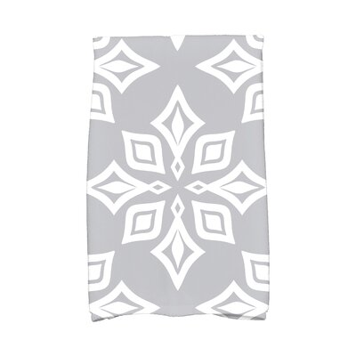Star Geometric Print Hand Towel Color: Gray