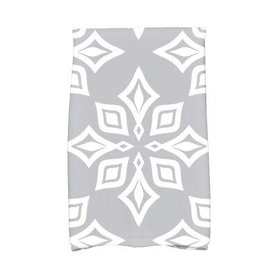 Rocio Star Geometric Print Hand Towel Color: Gray