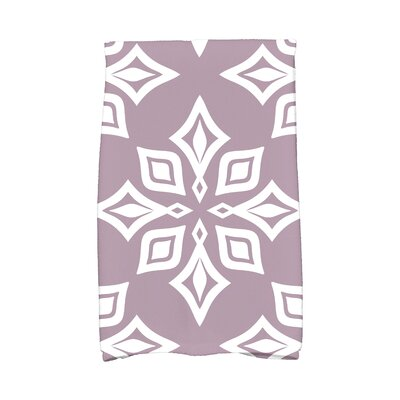Star Geometric Print Hand Towel Color: Lavender