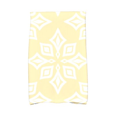 Star Geometric Print Hand Towel Color: Yellow