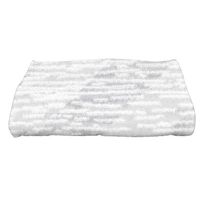 Marled Knit Bath Towel Color: Gray