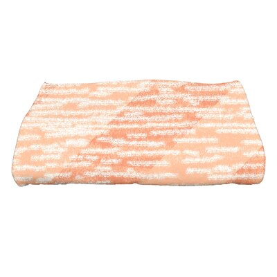 Marled Knit Bath Towel Color: Coral