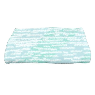 Marled Knit Bath Towel Color: Aqua