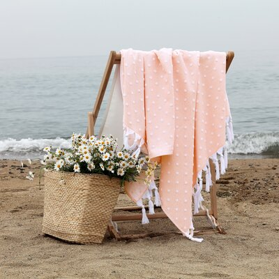 Rock Island Pestemal Beach Towel Color: Peach