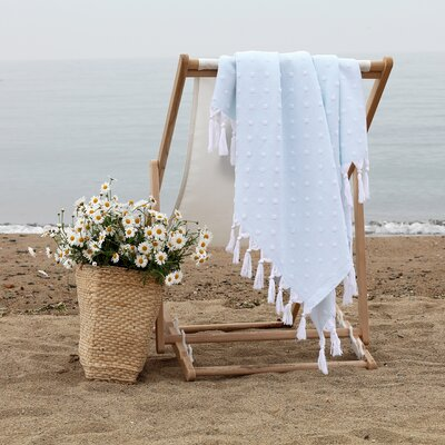 Rock Island Pestemal Beach Towel Color: Soft Aqua