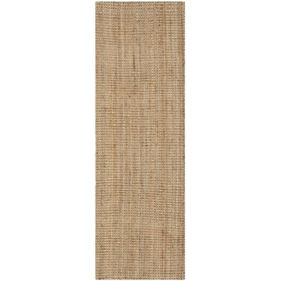 Calidia Hand-Loomed Beige Area Rug Rug Size: Runner 23 x 17