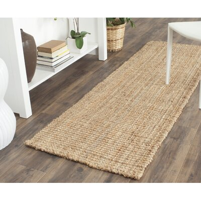 Colleton Hand-Loomed Beige Area Rug Rug Size: Runner 23 x 13