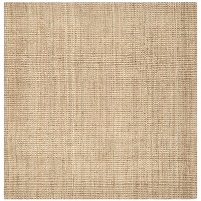 Colleton Hand-Loomed Beige Area Rug Rug Size: Square 9
