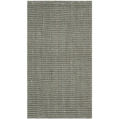 Calidia Hand-Loomed Gray Area Rug Rug Size: 2 x 3