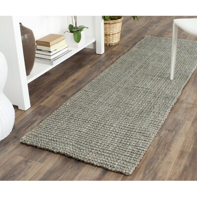 Colleton Hand-Loomed Gray Area Rug Rug Size: Runner 23 x 13