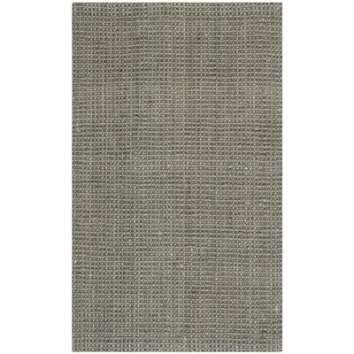 Calidia Hand-Loomed Gray Area Rug Rug Size: 3 x 5