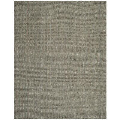 Calidia Hand-Loomed Gray Area Rug Rug Size: 4 x 6