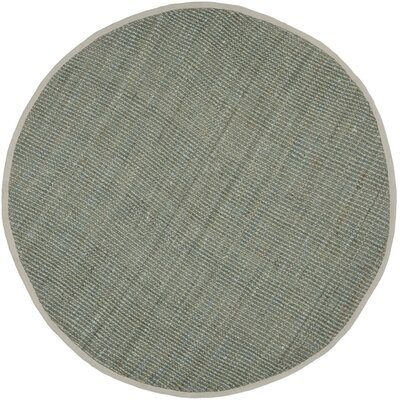 Calidia Hand-Loomed Gray Area Rug Rug Size: Runner 23 x 19