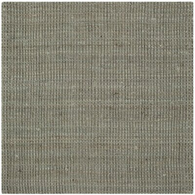 Calidia Hand-Loomed Gray Area Rug Rug Size: Square 4