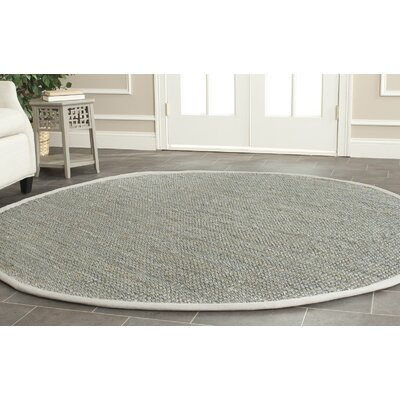 Colleton Hand-Loomed Gray Area Rug Rug Size: Round 5