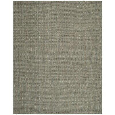Calidia Hand-Loomed Gray Area Rug Rug Size: 6 x 9