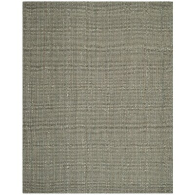 Calidia Hand-Loomed Gray Area Rug Rug Size: 8 x 10