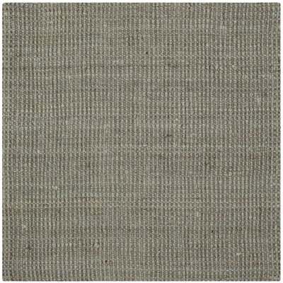 Colleton Hand-Loomed Gray Area Rug Rug Size: Square 9