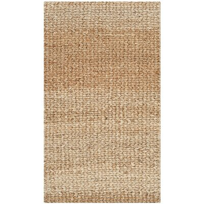 Colleton Hand-Loomed Gold Area Rug Rug Size: Round 9