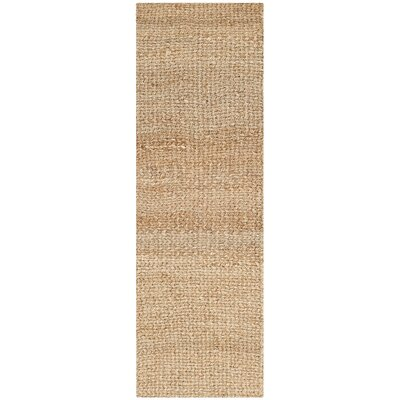 Calidia Hand-Loomed Gold Area Rug Rug Size: Runner 23 x 11