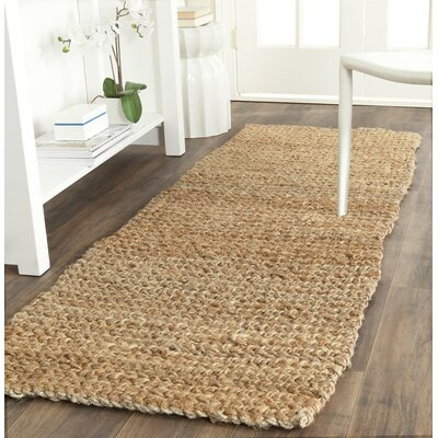 Colleton Hand-Loomed Gold Area Rug Rug Size: Runner 23 x 9
