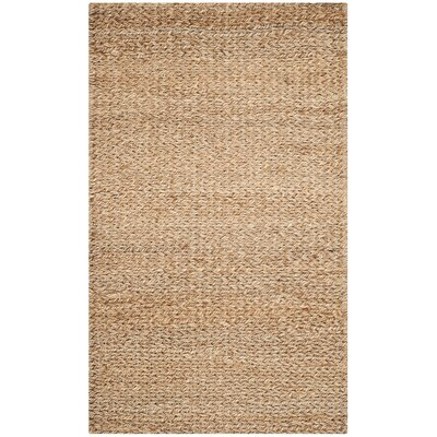 Calidia Hand-Loomed Gold Area Rug Rug Size: Rectangle 4 x 6