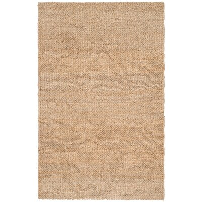 Calidia Hand-Loomed Gold Area Rug Rug Size: 5 x 8