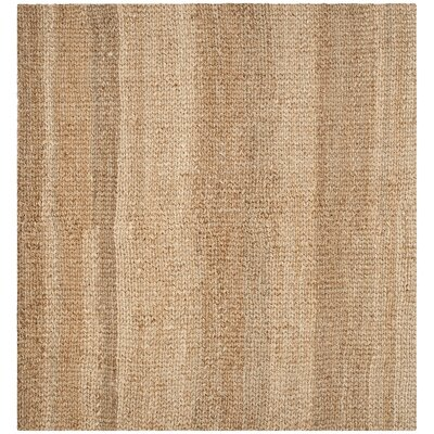 Calidia Hand-Loomed Gold Area Rug Rug Size: Square 9