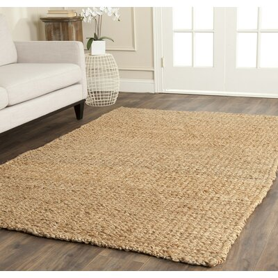 Colleton Hand-Loomed Gold Area Rug Rug Size: Square 7