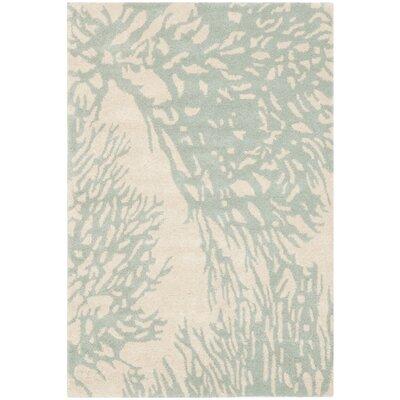 Juniper Beige/Blue Area Rug Rug Size: 9 x 12