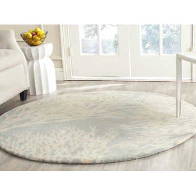 Juniper Beige/Grey Tribal Area Rug Rug Size: Round 5
