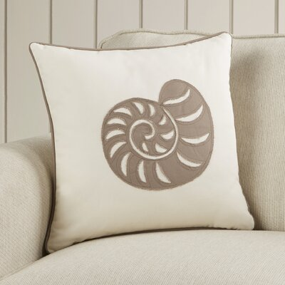 Alford Shell Cotton Throw Pillow