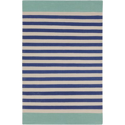 Kinslee Cobalt/Light Gray Area Rug Rug Size: Rectangle 5 x 8