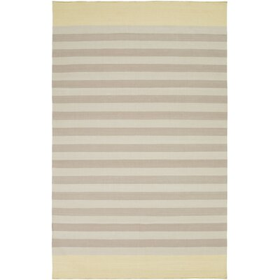 Kinslee Taupe/Light Gray Stripe Area Rug Rug Size: 5 x 8