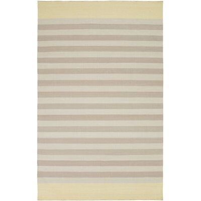 Kinslee Taupe/Light Gray Stripe Area Rug Rug Size: 8 x 11