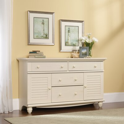 Pinellas 4 Drawer Combo Dresser Finish: Distressed Antiqued White