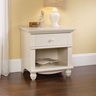 Pinellas 1 Drawer Nightstand Finish: Antiqued White