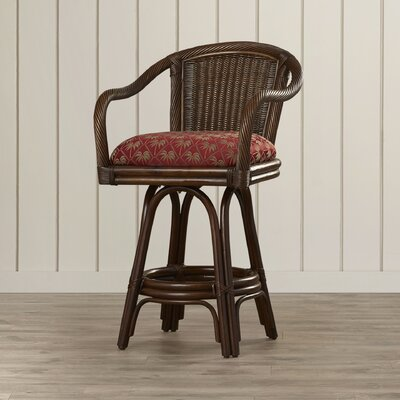 Edgerly 24 Swivel Bar Stool Upholstery: Banana Bay Chili