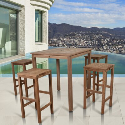 Elsmere Patio 5 Piece Dining Set